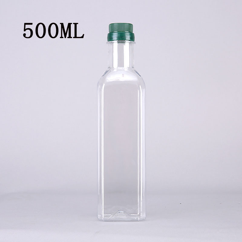 500ml plastic pet bottle cooking olive oil food grade bpa free with screw cap