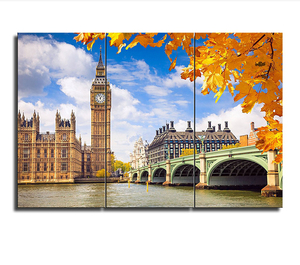Wholesale Framed London City Poster Canvas Printing Big Ben Photo Canvas Prints Decorative Canvas Digital Prints for Home