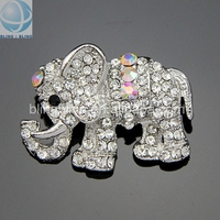 Fashion Design Crystal Rhinestone Brooch Elephant cc Brooch