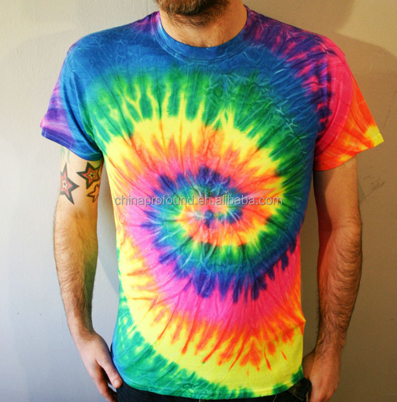 5281906b72c men fashion new trend t-shirts rainbow t-shirt tie dye tee
