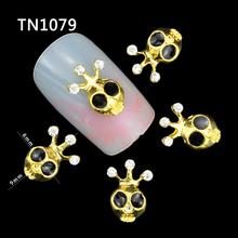 10 Pcs Glitter 3D Cuttlefish Rhinestones For Nail Art Decorations Gel Polish DIY Gold Alloy Charm