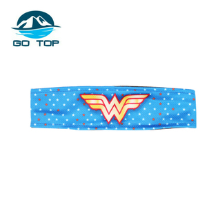Customize logo decorative Lady Head Wrap Makeup Headband
