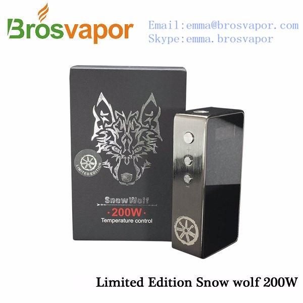 2016 Most Popular box mod snowwolf 218 200 w Stainless Steel made for you