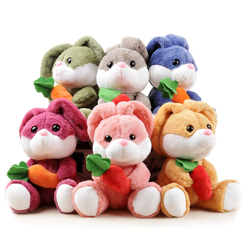 Wholesale Hot Sale Cute Stuffed Plush Dolls <strong>Rabbit</strong> With Radish Plush Toy
