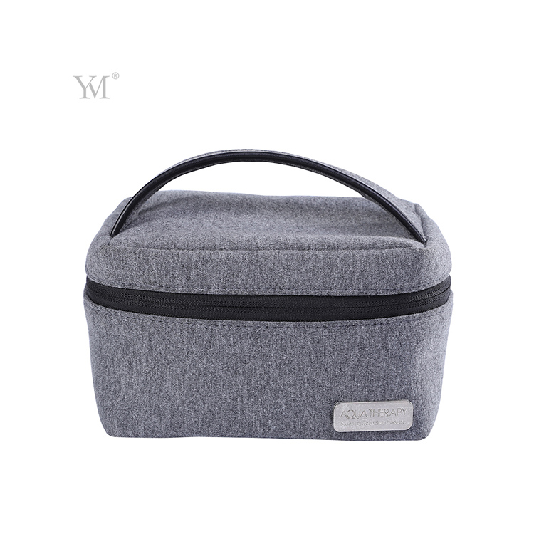 soft organic cotton cosmetic bag portable cotton make up bag with handle