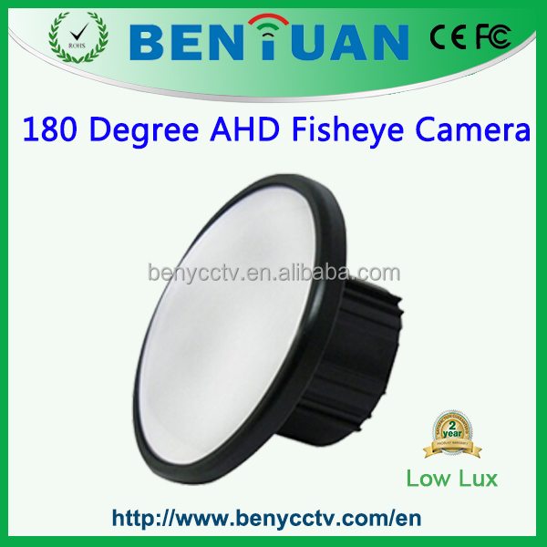 Best Price Surveillance HD CCTV Mirror Fisheye 1.3MP AHD Camera 180 Degree Fisheye Camera, Image without warping