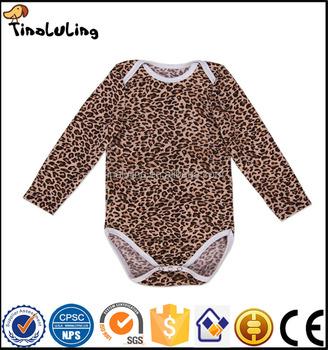 New Design Leopard Print Baby Clothes Cotton Infant