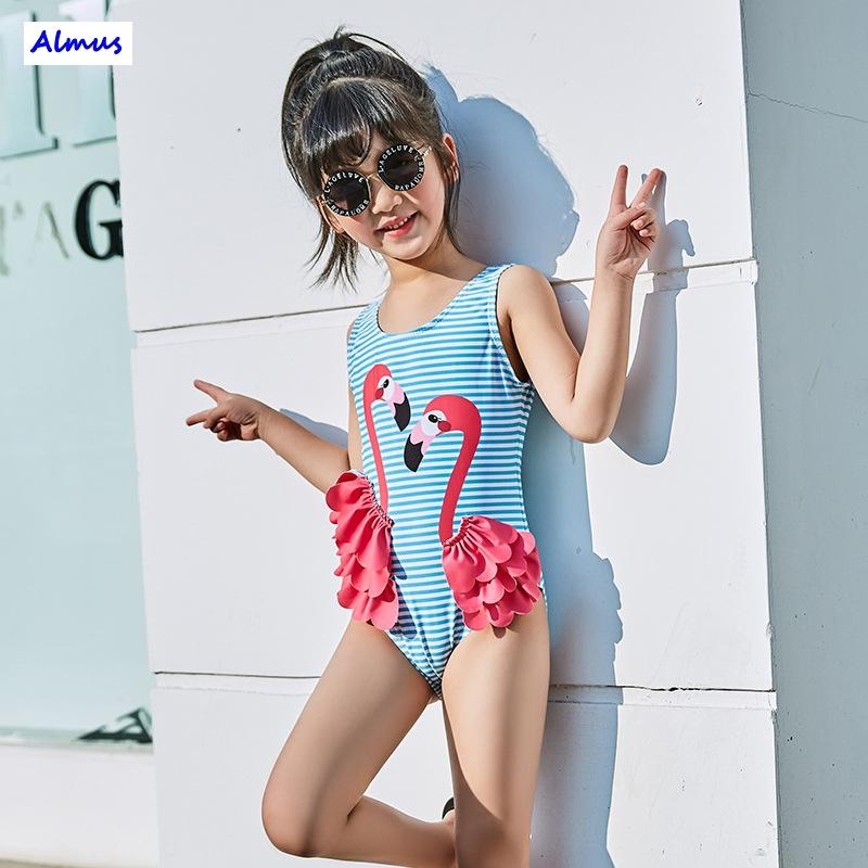 Toddler Kids Girl Bikini Swimwear Swan Flamingos Swimsuit Bathing Suit Beachwear