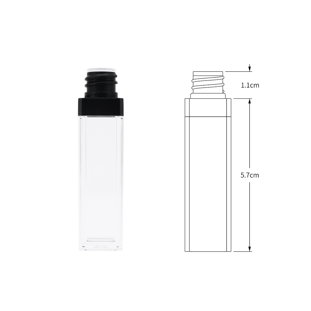 wholesale 6ml plastic packaging empty clear sample lip gloss tubes