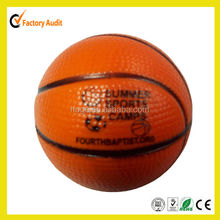 Cheapest pu stress ball basketball with logo printed