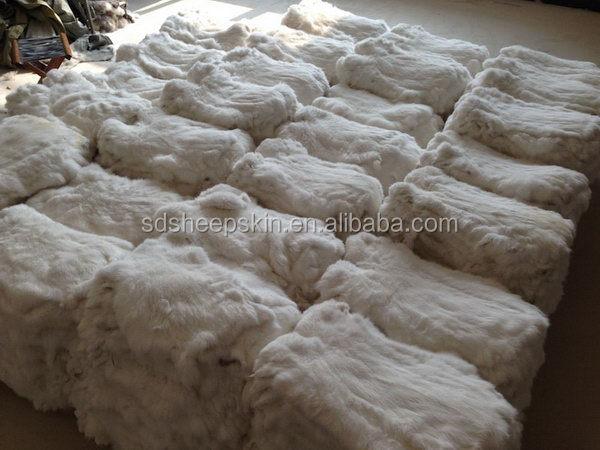 Best Quality Genuine Raw Rabbit Skin Rex Chinchilla Fur