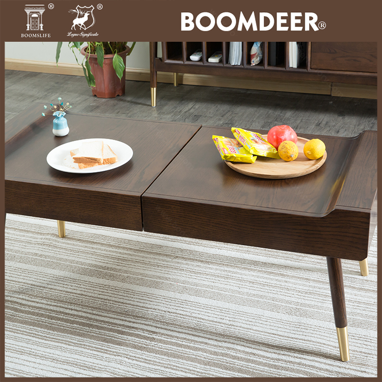 product-Nordic style solid wood low tea tablefolding chinese natural wood coffee table-BoomDear Wood-4
