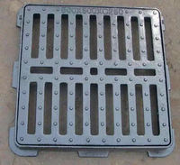 B125 EN124 square Cast Iron Trench Drain Grates Manhole Cover With Frame