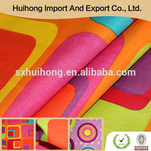 Shaoxing textile Factory price High quality 100% polyester printed silk fabric