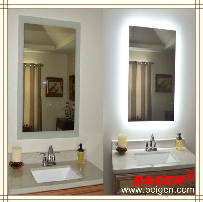 Hotel Style Hot Sell Furniture Bathroom Mirror With Back Lights Made In China