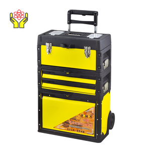 SJ-901 Popular plastic Handle Toolbox/ Tool box trolley/ divide into three storage boxes
