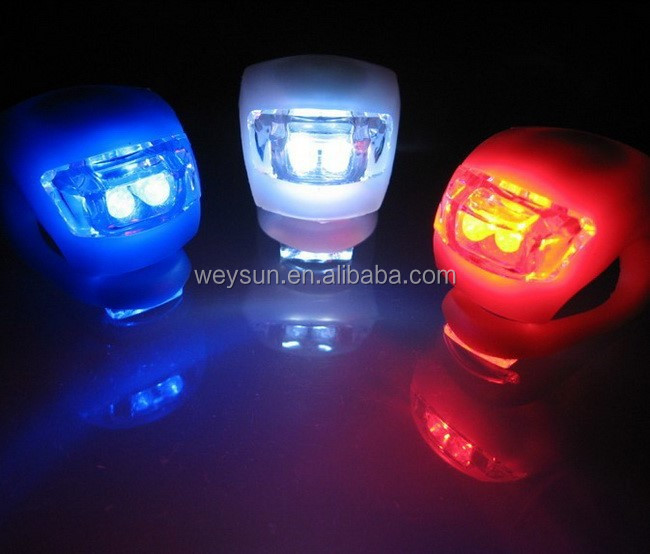 6pcs Silicone Bike Bicycle Cycling Head Front Rear Wheel LED Flash Light Lamps