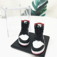 custom promotional pvc 3d mini sneaker basketball shoe keychain