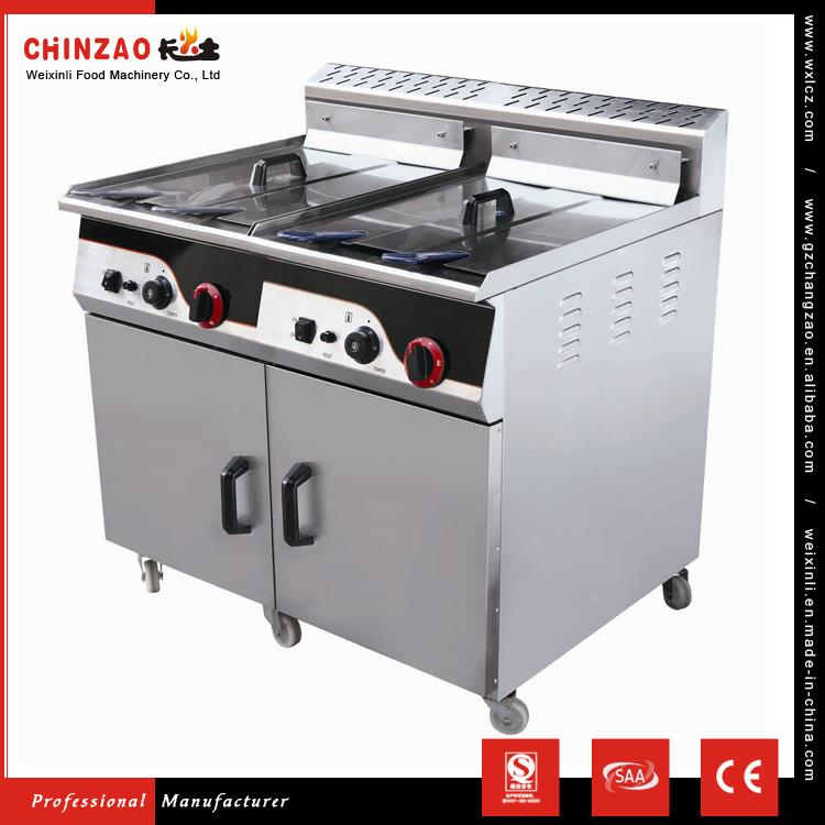 CHINZAO Hot Products To Sell Online Commercial Vertical Double Tank Gas Deep Fryer