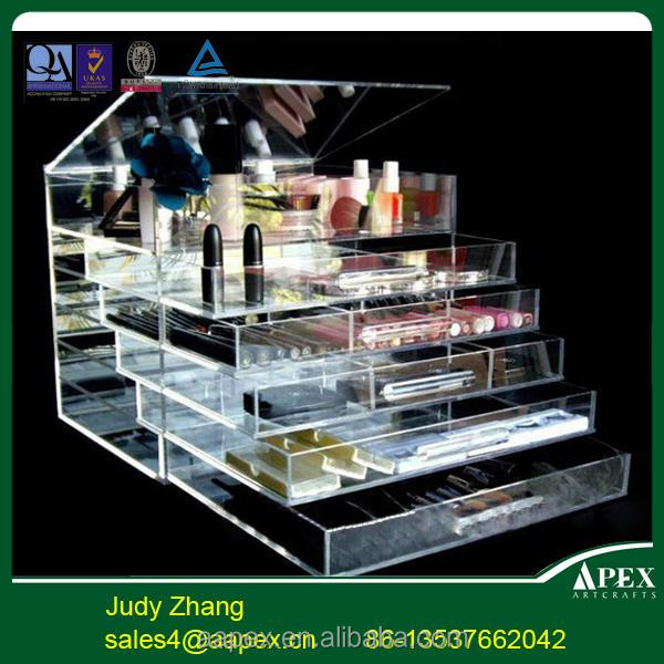 Good selling acrylic make up display rack for cosmetic eyeshadow