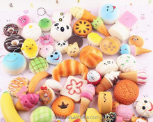 New squishy toy Bread and fruits nice Scented Slow Rising Toy Cell Phone Charms Pendant Strap keychain