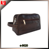 Custom business genuine leather wash travel toilet bag mens toiletry bag