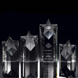 Beauty custom crystal star award trophy for business gift