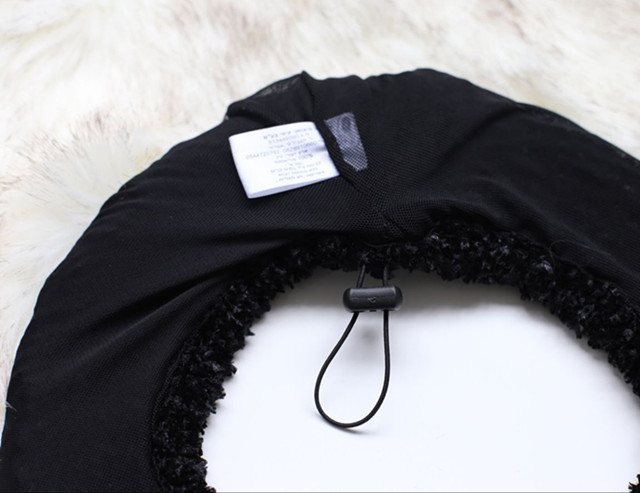 women simple winter polyester knitted beret