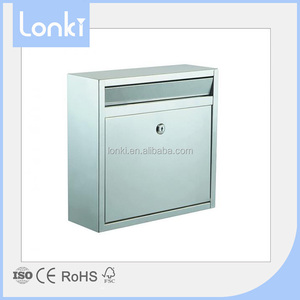 China Supplier Custom made stainless steel mail box, Wall mounted letter box post box