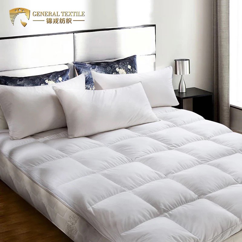 Classical Bed King Size Diamond Pattern Waterproof Quilted Microfiber Mattress Topper