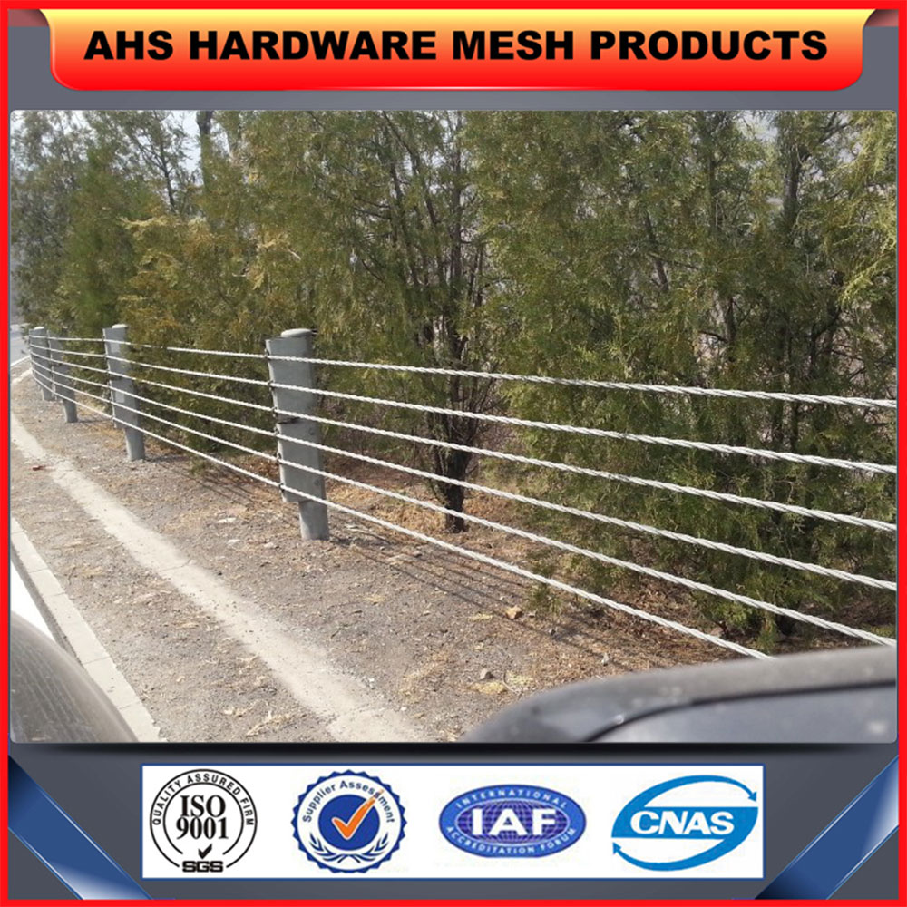 Wire Rope Guardrail, Wire Rope Guardrail Suppliers and Manufacturers ...