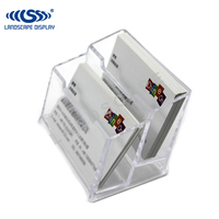 Custom made desktop acrylic business card display / acrylic business card display stand / business card plexiglass holder