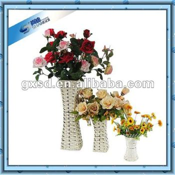 Wedding Decorative Cheap Paper Handcraft White Small Flower Vases