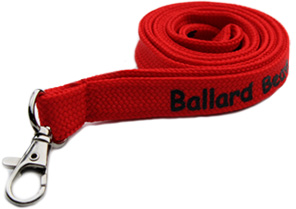 unique affordable custom polyester woven tube lanyards