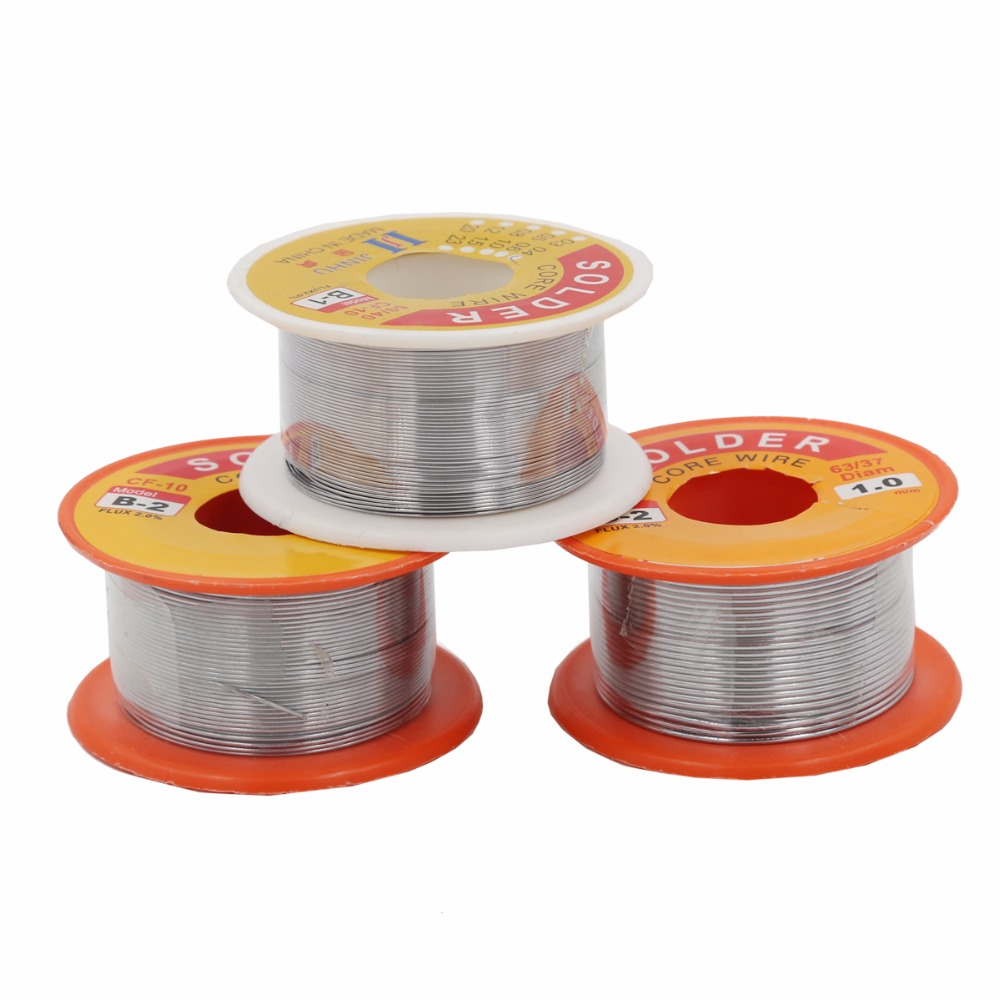 Hoge Kwaliteit 0.5/0.6/0.8/1mm 63/37 FLUX 2.0% Tin Tin Lead Wire Melt Rosin Core soldeer Soldeer Wire Roll