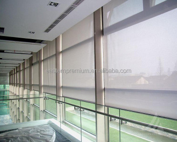 Roller blind curtain mechanism sunscreen fabric