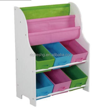 Holder And Shelf With 6 Storage Bins