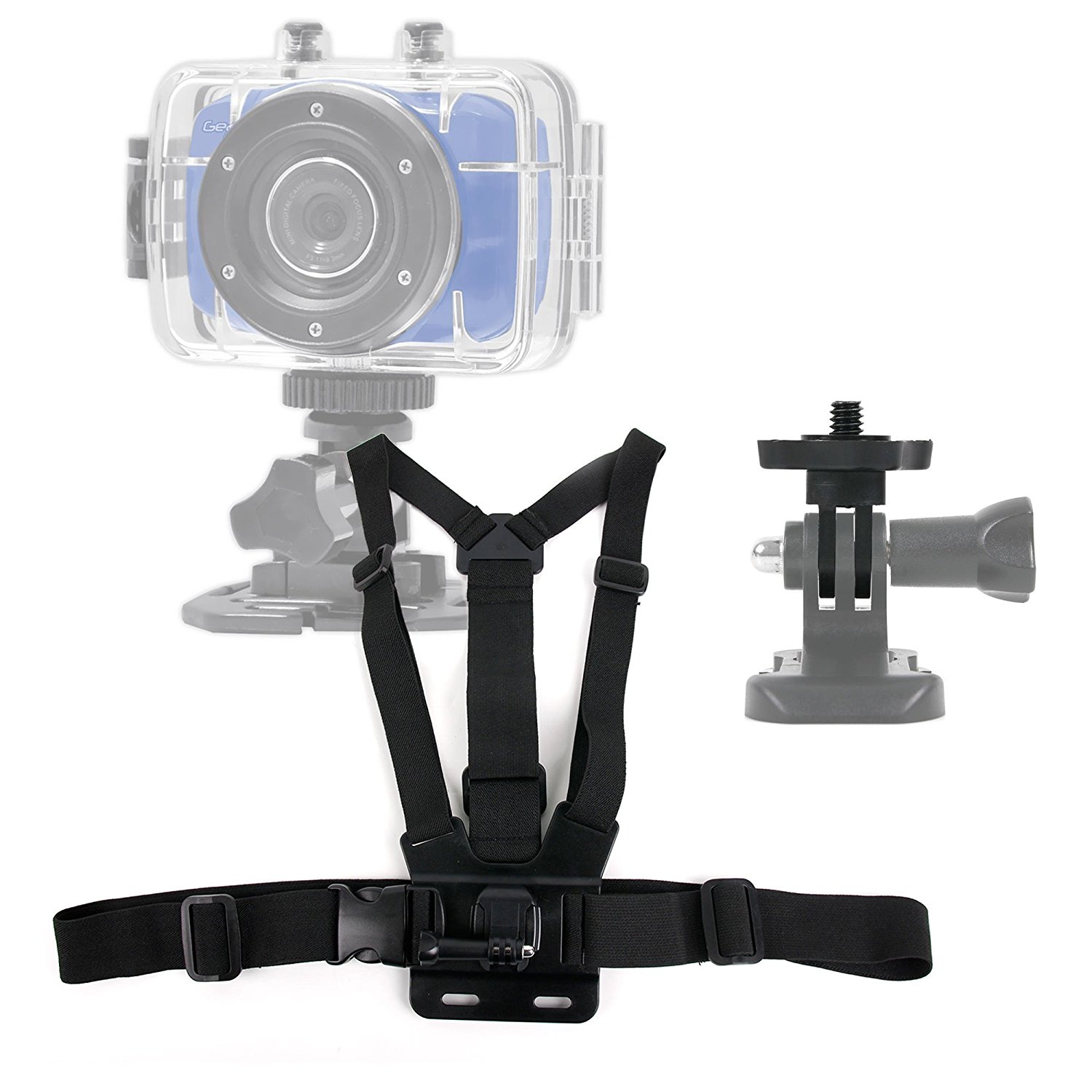 DURAGADGET Premium Quality Buyee HD 1080P Action Camera Chest Harness Mount - Fully Adjustable Chest Harness Mount With Quick Release-Buckle For NEW Buyee HD 1080P Waterproof Sports Action Camera Helmet Camcorder DV Touch Screen