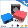 Portable Colorful 4 port usb power adapter charger travel kit new 2016