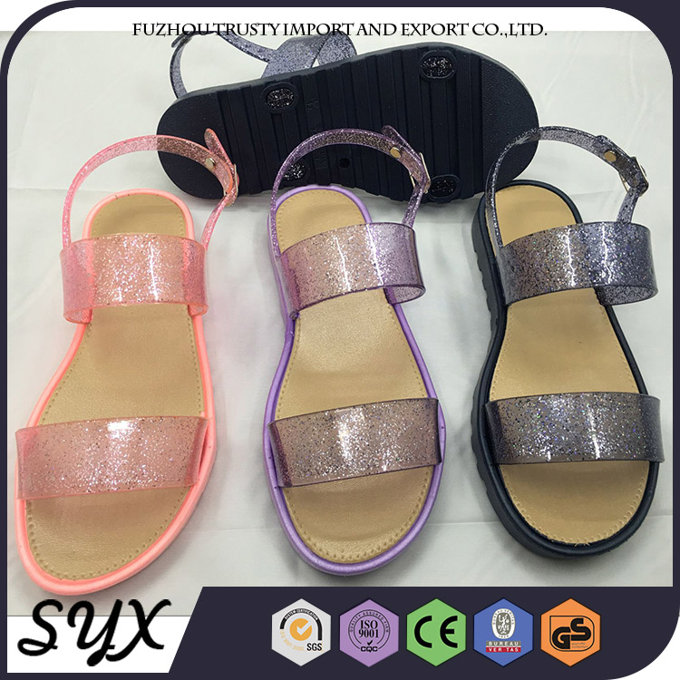 Pink Beach Pvc Lace Clear Sexy Lady Party Wear Sandal