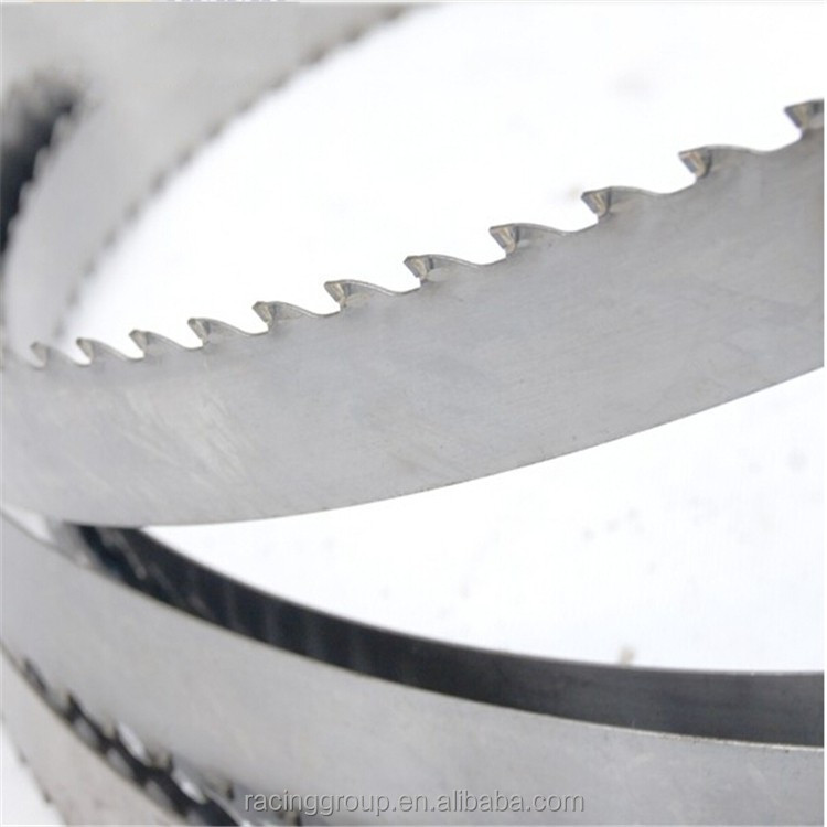 Portable sawmill band saw blade used cutting wood
