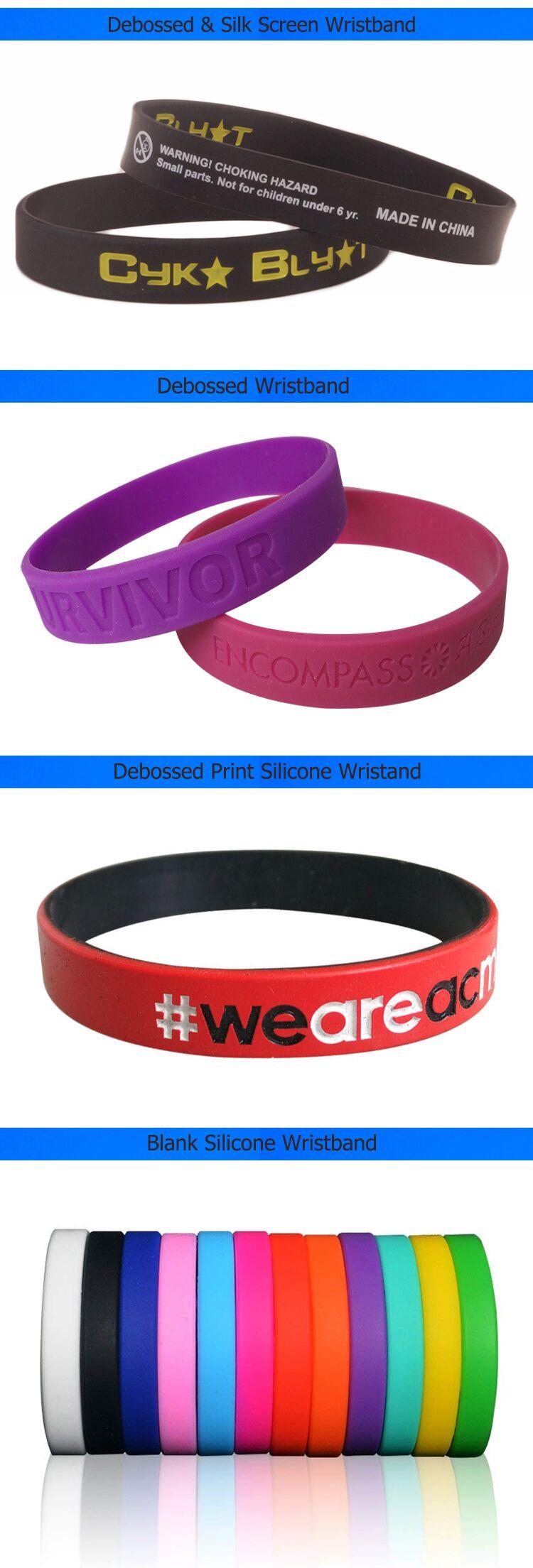 Angepasst Eeco-Freundliche Gummi Armband Silikon Armband Für Event Party