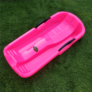 Kids Plastic Winter Sports Skiing Boards Snow Sledge Pad Sled With Seat Brake Safe Sled
