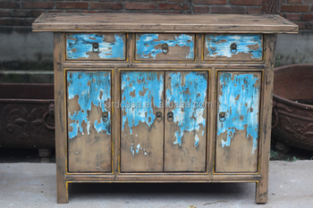 Chinese Style Antique Hand Painted Furniture Living Room Side