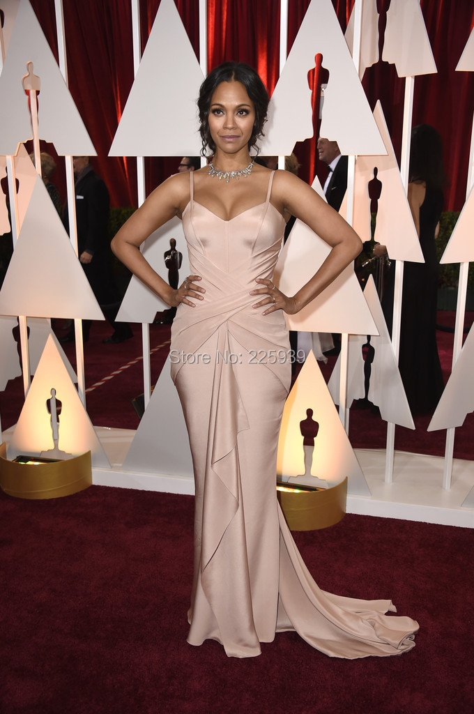 738da01f11 Zoe saldana elegant long celebraty evening dresses with Long elegant red  carpet dresses