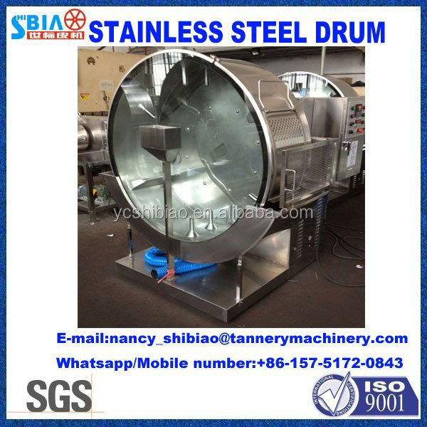 leather tanneries in China Lab drum D1400 by 500 Inox Experiment tanning drum/processing drum/leather machine made in China