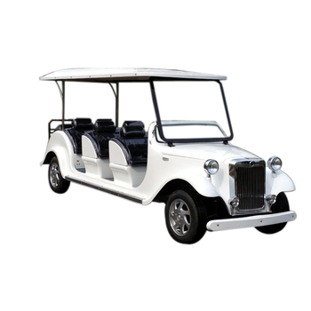 cheap CE approved 8 Seats electric tourist bus classic car with steering wheel electric car tourism
