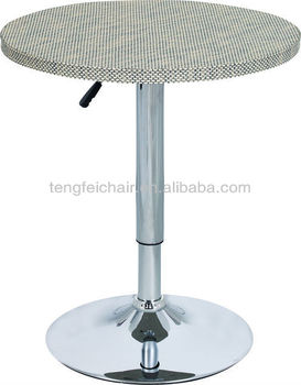 Tall Wood Bar Table With Chrome Base Low Price 360 Degree And Height Adjule Tf 828 A Tables Used