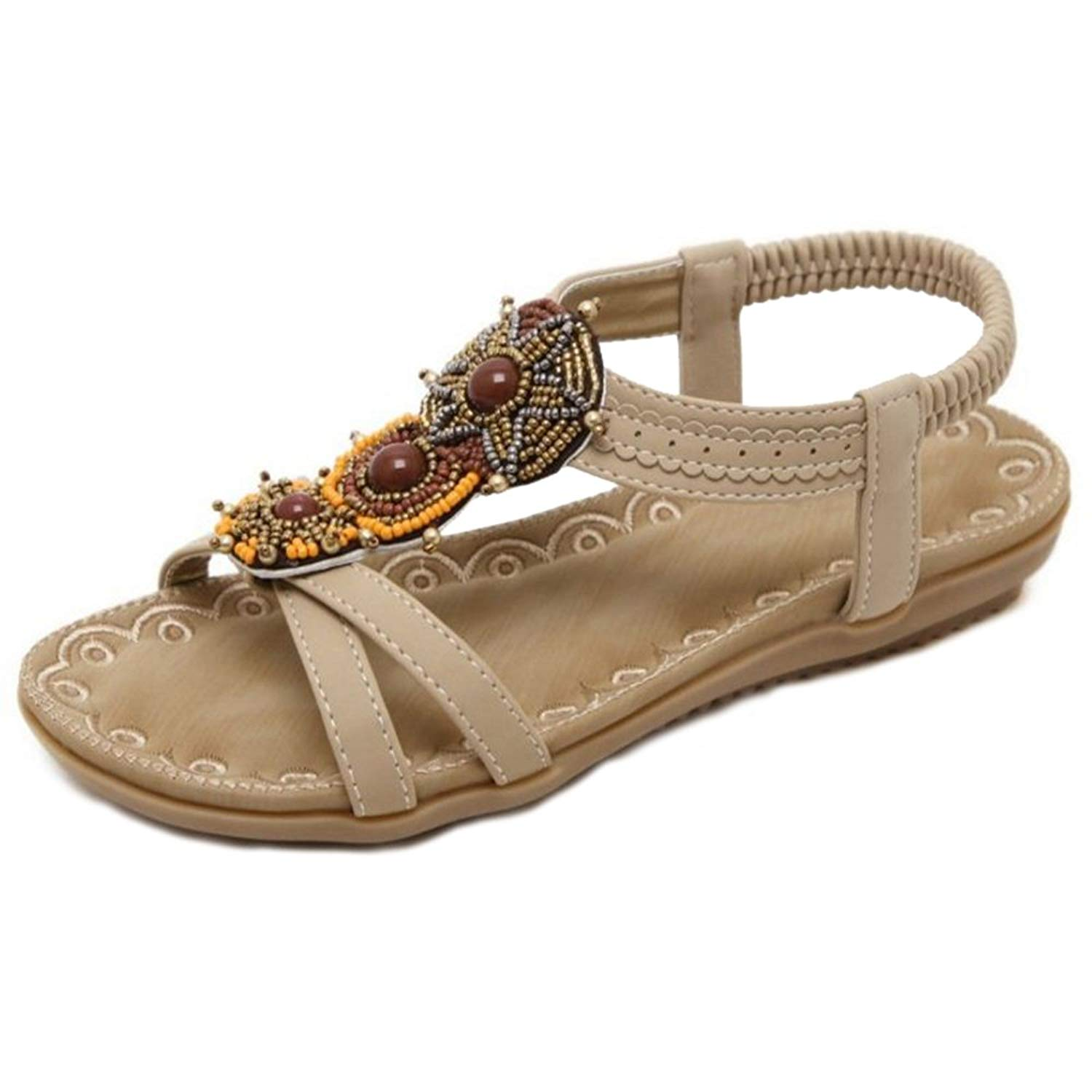 20afaf85f Get Quotations · Smilice Bohemia Flat Sandals Beach Sandals for Beautiful  Ladies