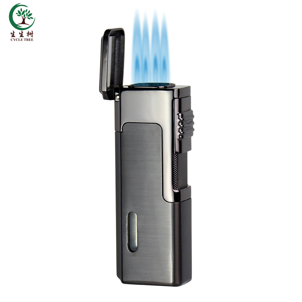 Wholesale high quality cigarette gas lighter Torch Butane Lighter, Zinc Alloy cigar gas lighter, Refill gas lighter фото